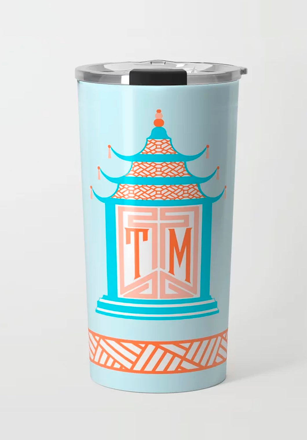 Royal Pagoda, Moonstone, Stainless Steel Travel Tumbler