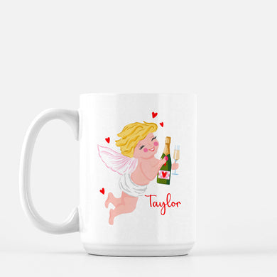 Cupid and Cocktails Personalized Valentine's Mug