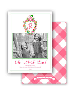Christmas Crest Personalized Photo Holiday Card, 5