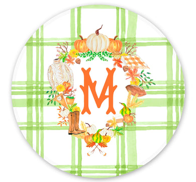 Fall Crest Set of (4) Personalized 10