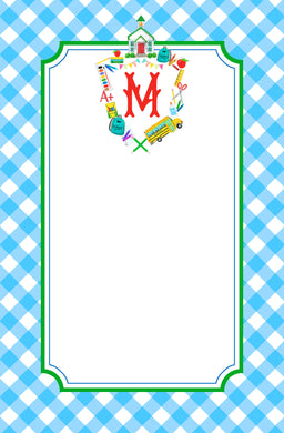 Custom School Crest Personalized Notepad, Multiple Sizes Available