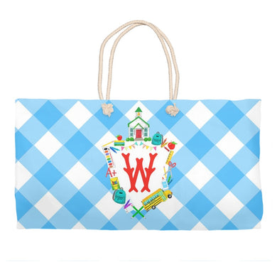 Custom School Crest Personalized Tote Bag