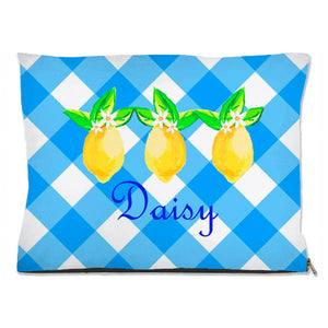 Lovely Lemon, Grove Picnic, Personalized Pet Bed, (3) Sizes Available