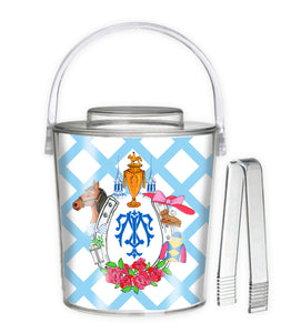 Personalized Kentucky Derby Custom Crest 3 Qt. Acrylic Ice Bucket