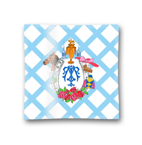 Kentucky Derby Personalized Crest Glass Trinket Dish, 6