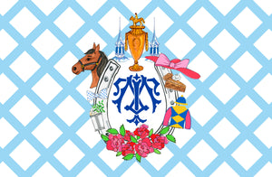 Kentucky Derby Personalized Custom Crest Paper Tear-away Placemat Pad