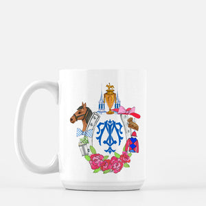 Kentucky Derby Themed Custom Crest Mug