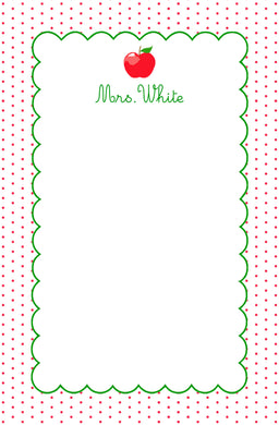 Dotted Apple Notepad, Multiple Sizes Available