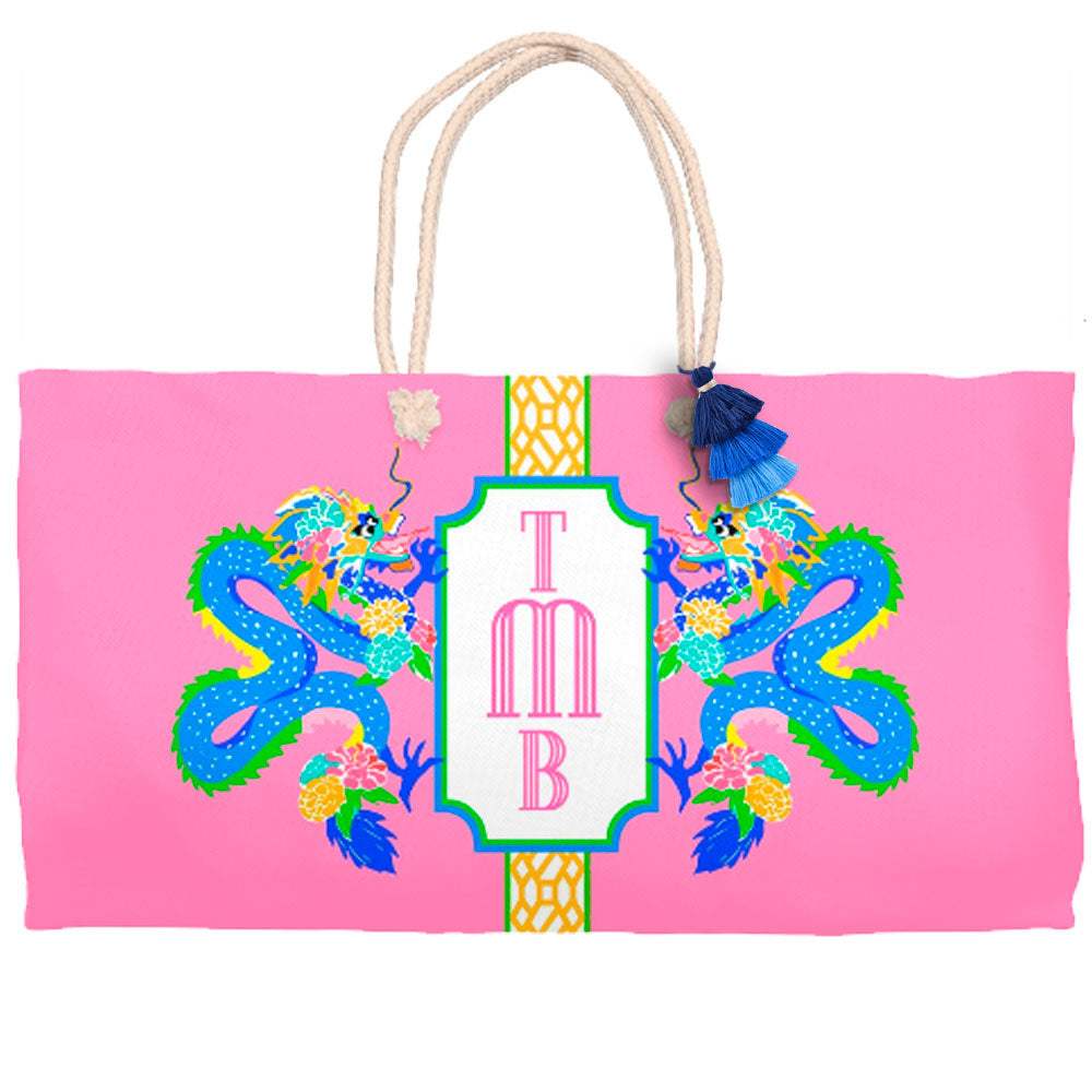 Dragon Crest Tote Bag, Dragon Fruit