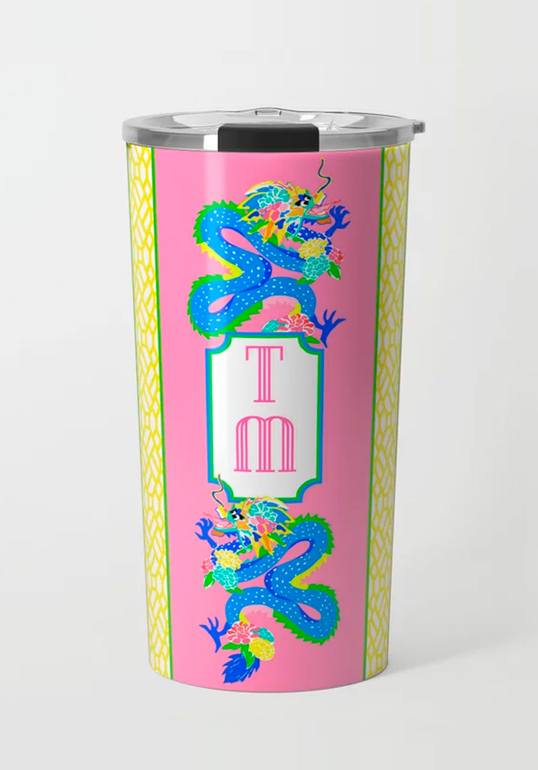 Dragon Crest, Dragon Fruit, Stainless Steel Travel Tumbler
