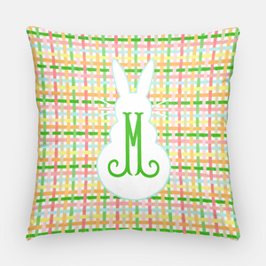 "Easter Plaid Personalized 20""x20"" Pillow Cover"