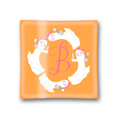 Here for the Boos Personalized Halloween Glass Trinket Dish, 6