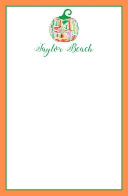 Famille Rose Pumpkin Personalized Notepad, Multiple Sizes Available
