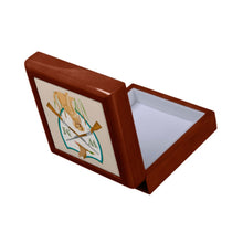 Load image into Gallery viewer, Father's Day Custom Duck Hunting Crest Personalized Wooden Keepsake Box