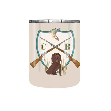 Men's Dove Hunt Crest Personalized Travel Tumbler, 10 oz.