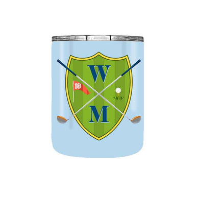 Men's Custom Personalized Golf Crest Travel Tumbler, 10 oz.