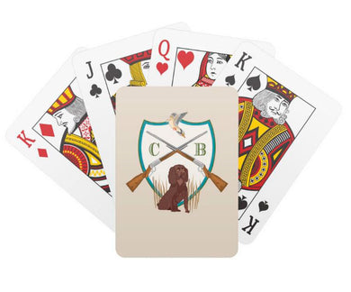 Father's Day Custom Dove Hunt Crest Personalized Playing Cards