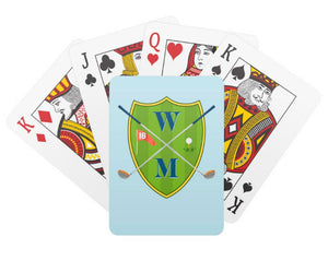 Father's Day Custom Golf Crest Personalized Playing Cards
