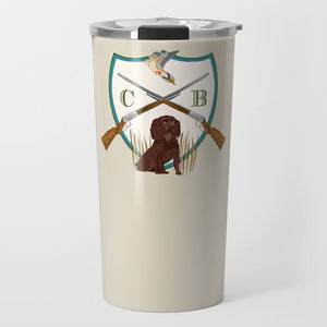 Men's Custom Dove Hunt Crest Personalized Travel Tumbler