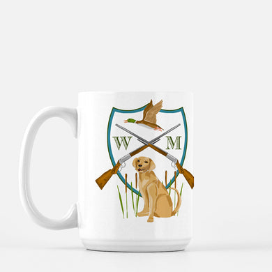 Men's Custom Duck Hunt Crest Personalized Mug