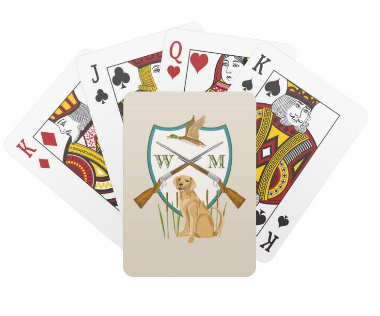 Father's Day Custom Duck Hunting Crest Personalized Playing Cards