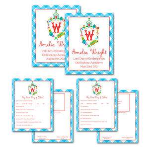 School Crest Personalized Back to School Photo Sign & Favorites Bundle