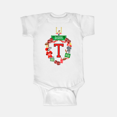 Custom Football Crest One Piece Body Suit