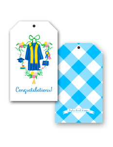 Graduation Crest Congratulations! Hang Tags