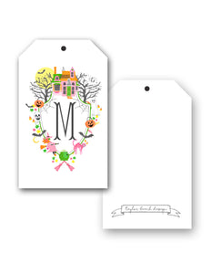 Halloween Crest Personalized Hang Tags