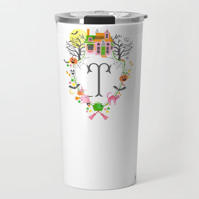 Halloween Custom Crest Personalized Travel Tumbler