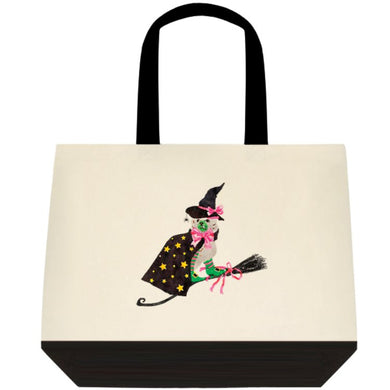 **SALE** Staffie Witch Halloween Tote Bag