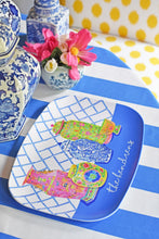 Load image into Gallery viewer, Personalized, Haute Chinoiserie Melamine Platter, Lapis