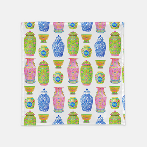 "Haute Chinoiserie 20""x20"" Cloth Napkins, Set of 4"
