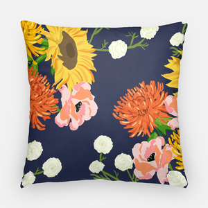"Hello Fall 20""x20"" Pillow Cover, Navy"
