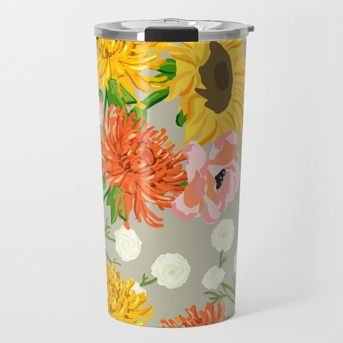 Hello Fall Travel Tumbler, Taupe