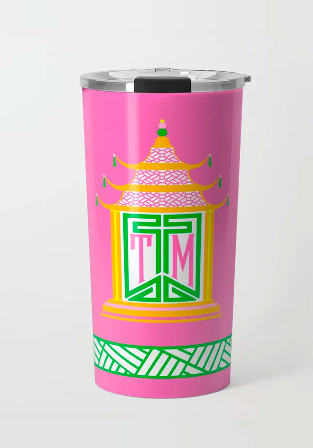 Royal Pagoda, Tourmaline, Stainless Steel Travel Tumbler