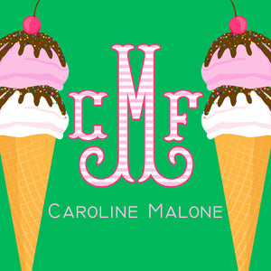 I Scream, You Scream Ice Cream Personalized Sticker Labels