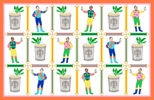 Jockeys & Juleps Personalized Custom Crest Paper Tear-away Placemat Pad
