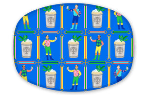 Jockeys & Juleps, Blue Ribbon, Personalized Melamine Platter