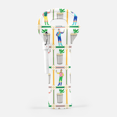 Jockeys & Juleps, Winning White, Wine Carrier with Cork Screw