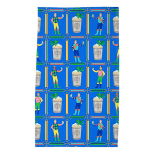 Jockeys & Juleps Personalized Poly Twill Tea Towel, Blue Ribbon