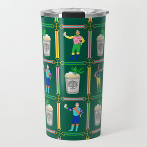Jockeys & Juleps Personalized Travel Tumbler, Keeneland Green