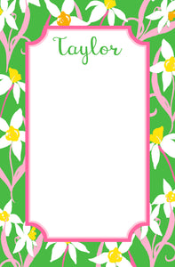 Daffodil Delight Personalized Notepad, Multiple Sizes Available