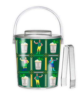 Jockeys & Juleps Personalized Kentucky Derby Custom Crest 3 Qt. Acrylic Ice Bucket, Keenland Green