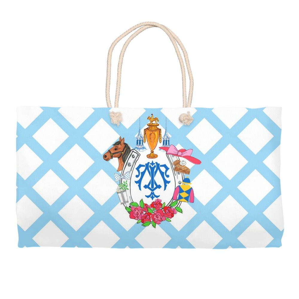Kentucky Derby Custom Crest Personalized Tote Bag