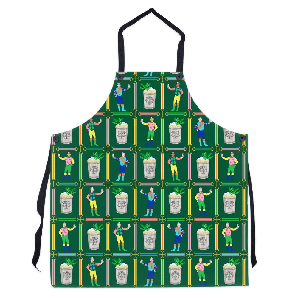 Jockeys & Juleps Personalized Apron, Keeneland Green