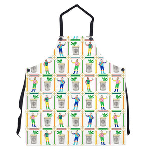 Jockeys & Juleps Personalized Apron, Winning White