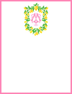 Lemon Crest, Pink Lemonade, Flat Note Cards