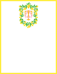 Lemon Crest, Limoncello, Flat Note Cards
