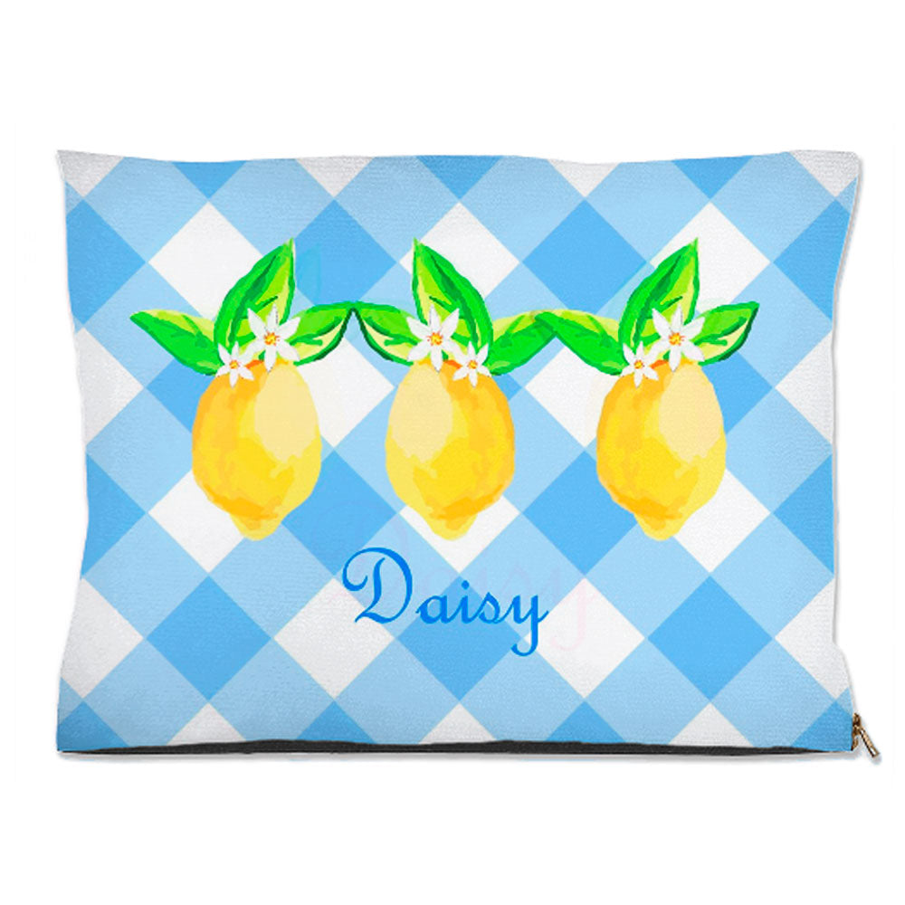 Lovely Lemon, Orchard Skies, Personalized Pet Bed, (3) Sizes Available